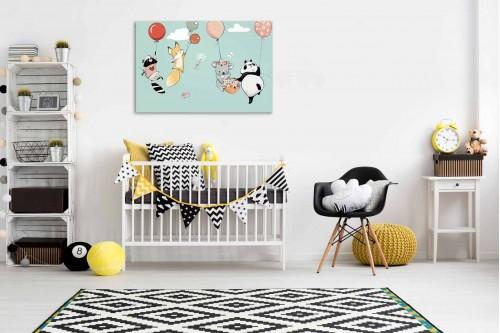 Tableau chambre bébé Envol en ballons
