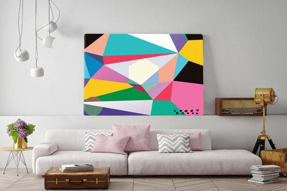 Tableau abstrait géométrique Guet Apens