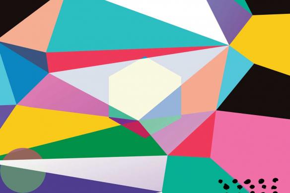 tableau coloré abstrait guet apens