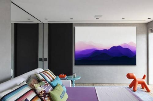 décoration-intérieure-moderne-montagne-bleue-violette