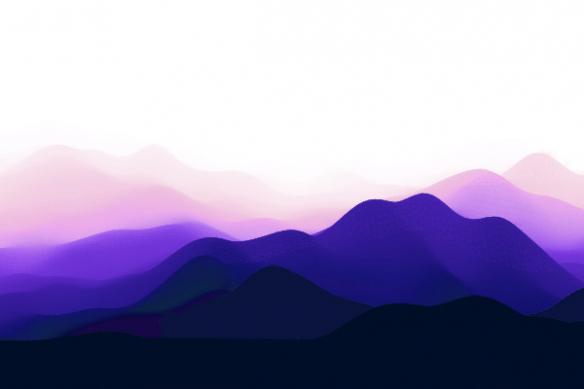 tableau montagne bleue violette