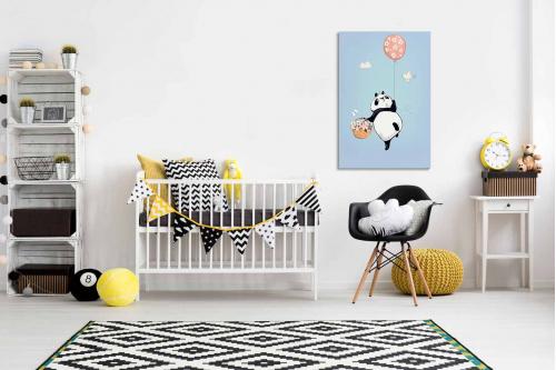Tableau pour enfant Panda et son ballon