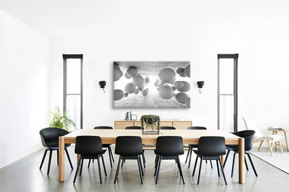 tableau-3d-boules-gris-déco-bureaux