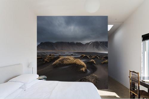 Papier peint panoramique Paysage Lunaire