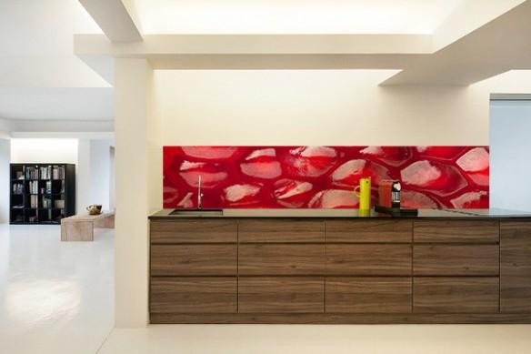 Crédence rouge Grenade fruit rouge