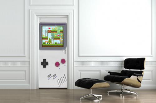 Déco porte console de jeux