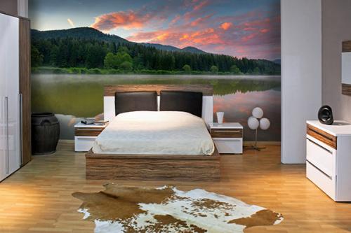 Papier peint panoramique Mysterious lake
