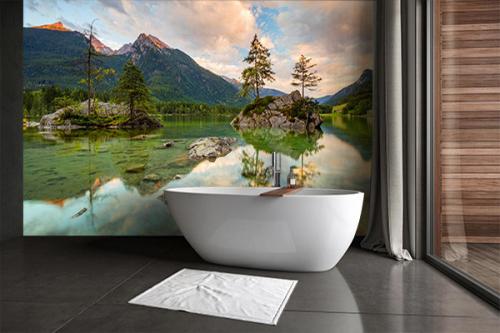 Papier peint salle de bain-vue-sur-le-lac