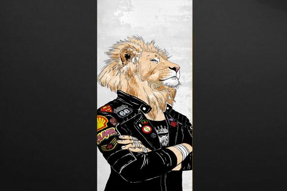 trompe-oeil-pour-porte-adolescent-lion