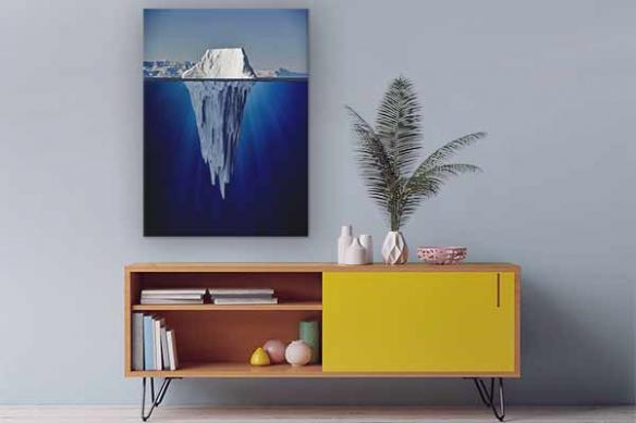 tableau-toile-bleu-sous-iceberg