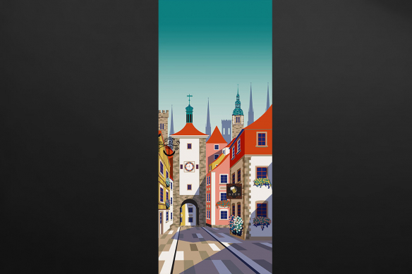 déco porte Alsace