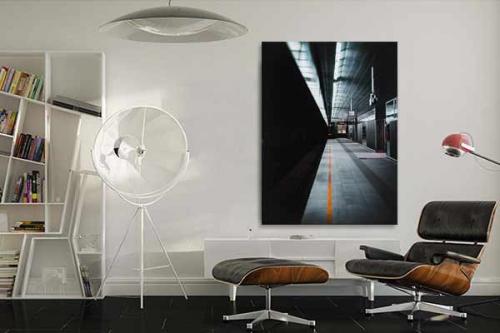 décoration-loft-toile-déco-industrielle-gare