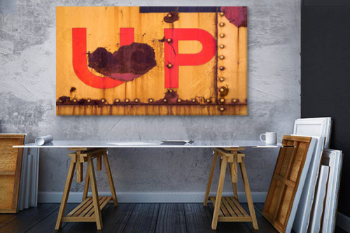 décoration loft industriel toile up