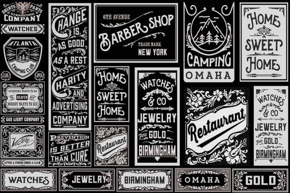 papier-peint-industriel-enseignes vintages