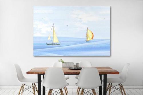 Tableau mer et voiliers