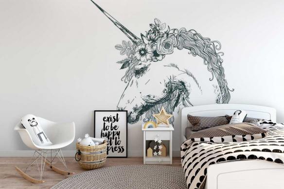Papier peint Licorne illustrée