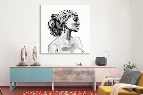 Tableau africain Femme Beauté africaine