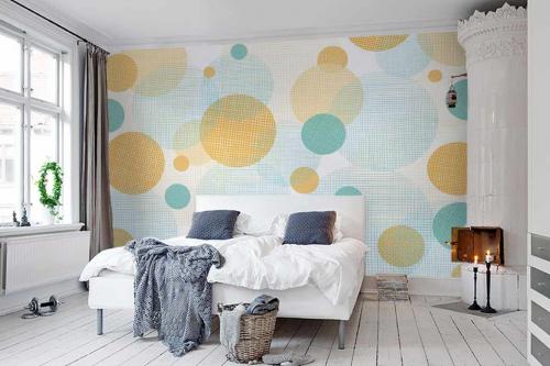 Papier peint chambre parentale Cirkel