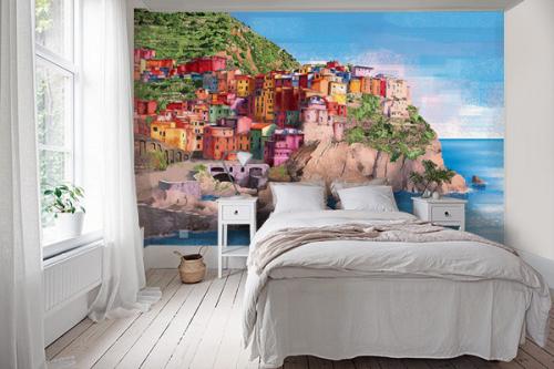 papier-peint-panoramique-chambre-village