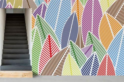 Papier peint feuillage scandinave