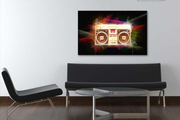 tableau decoration k7 izoa. Black Bedroom Furniture Sets. Home Design Ideas
