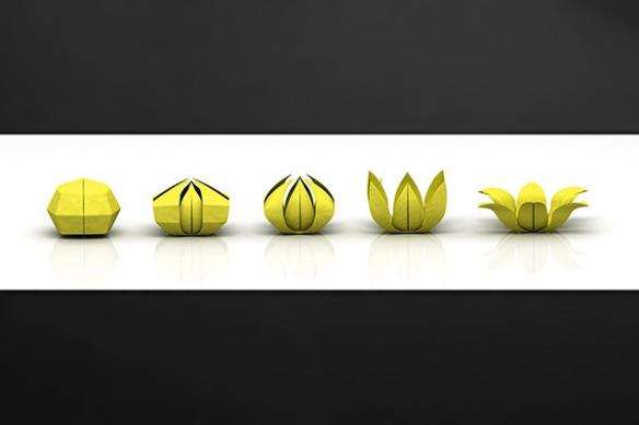 credence-plan-travail-sur-mesure-jaune-origami