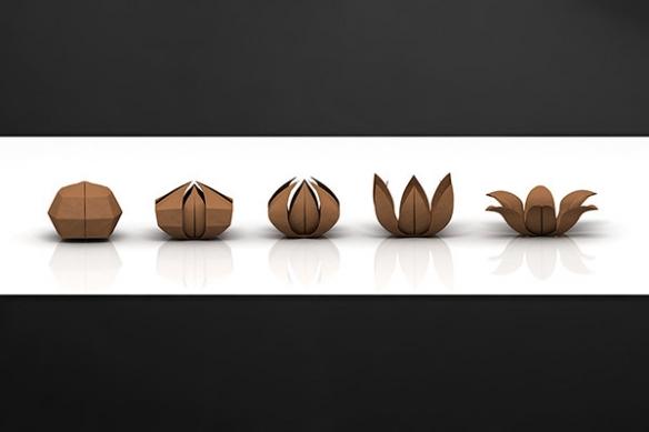 credence-sur-mesure-origami-marron