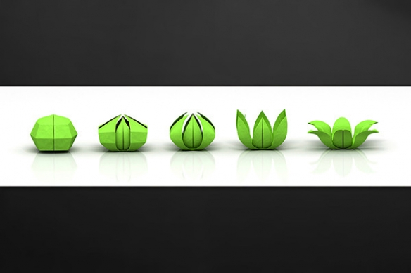 plaque-protection-cuisine-origami-vert