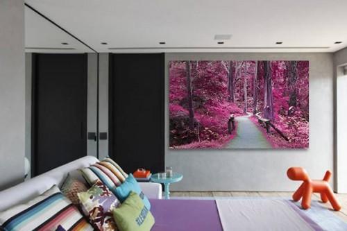 Tableau paysage Forêt Violette
