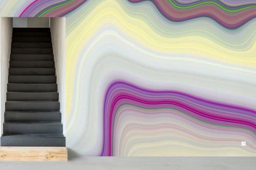 Papier peint couloir Ondulations effet marbre