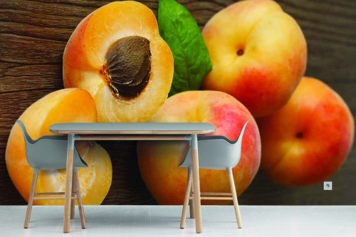 Papier peint cuisine Abricots