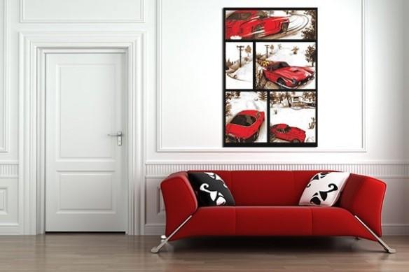 Tableau contemporain voiture