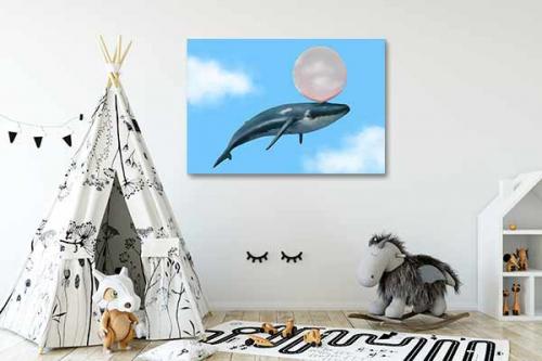 Tableau pour enfant Baleine à gum