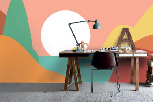Papier peint tendance paysage Nilang