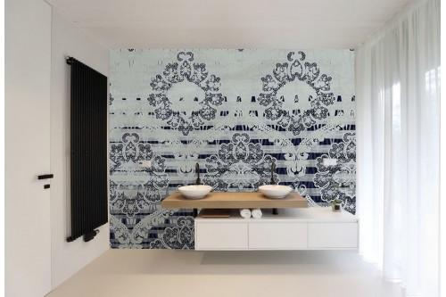 Papier peint baroque moderne Félicie pour salle de bain