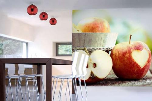 Papier peint cuisine Pommes d'Amour