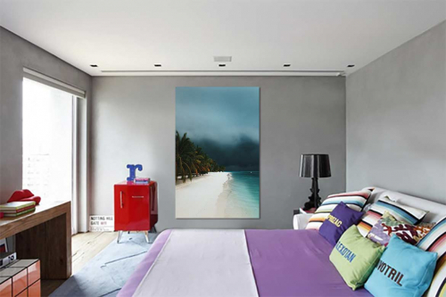 Décoration murale mer pour chambre approche de l'orage