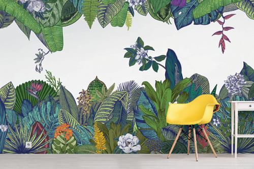 Papier peint panoramique Jungle Chic