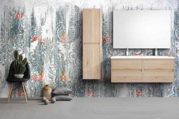 Papier peint salle de bain Baroque usé