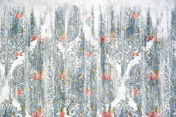 papier peint panoramique baroque usé