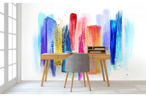 Papier peint panoramique Symphonie de couleurs