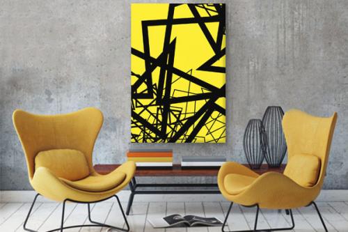 tableau-abstrait-jaune-transcendantal