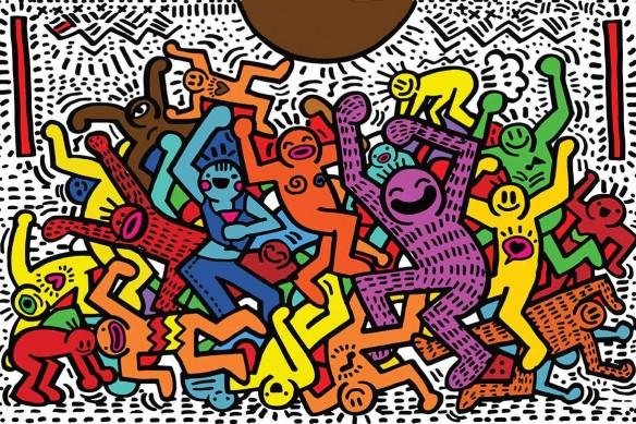 papier-peint-pop-art-keith