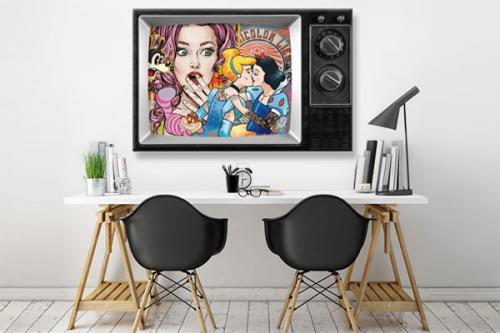 Tableau street art Princesses TV