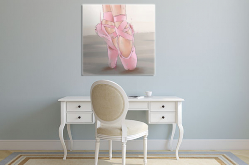 Tableau danseuse pointes roses