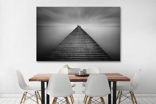 tableau-zen-pour-salle-a-manger-ponton-noir-et-blanc