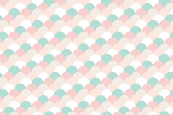tapisserie-chambre-fille-tuilles-pastel