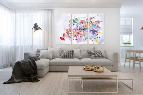 toile-imprimée-triptyque-floral