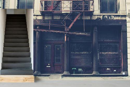 Papier peint industriel Vieille boutique Américaine