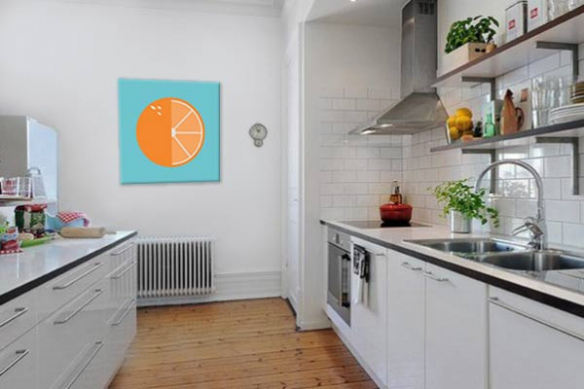 Tableau pour cuisine Orange minimaliste